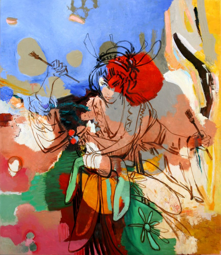 Barbara Quandt | Miss Hokusai – 2017, Öl / Leinwand, 140 x 120 cm