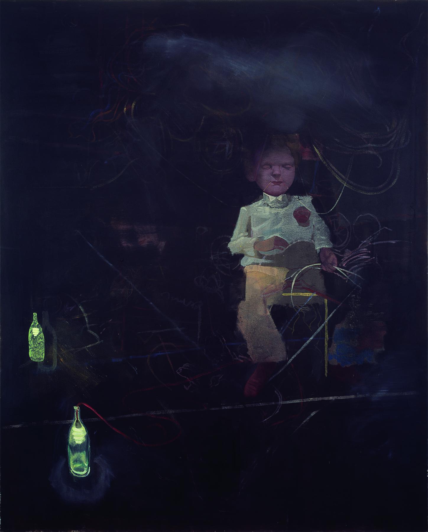 Bodo Rott - Große Seance, 2012, 160 x 130 cm, Öl / Lw