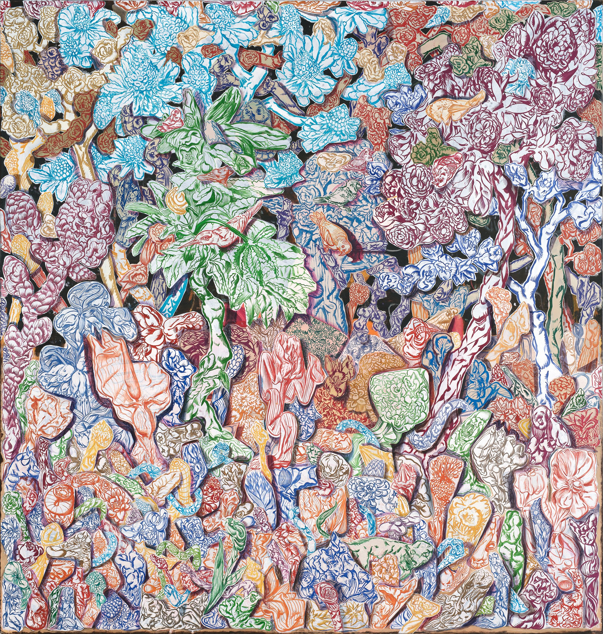 Bodo Rott | Hortus Convulsus 3, 2016, 200 x 190 cm, Öl / Lw