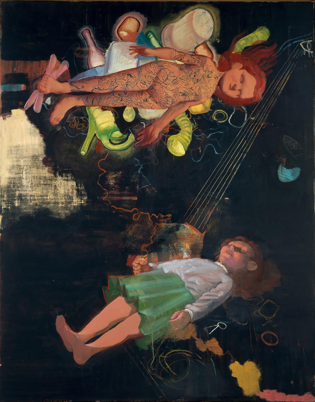 Bodo Rott - Werkweise Wand, 2013, 160 x 130 cm, Öl / Lw