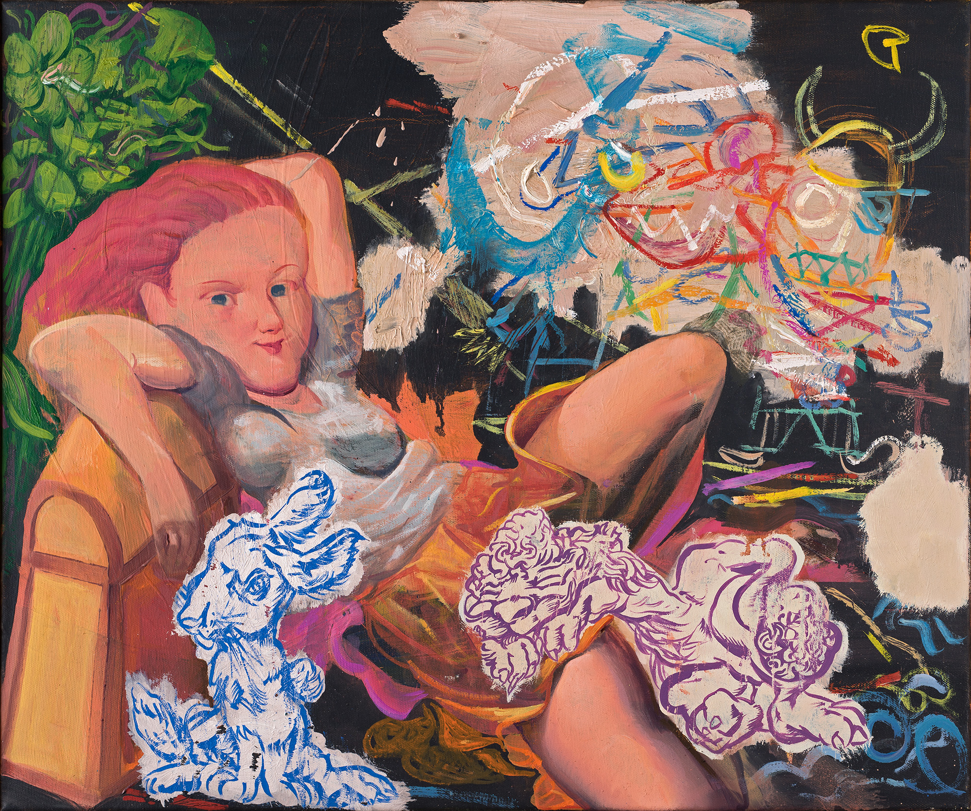Bodo Rott - Wunsch, Seeräuber zu werden, 2016, 50 x 60 cm, Öl / Lw