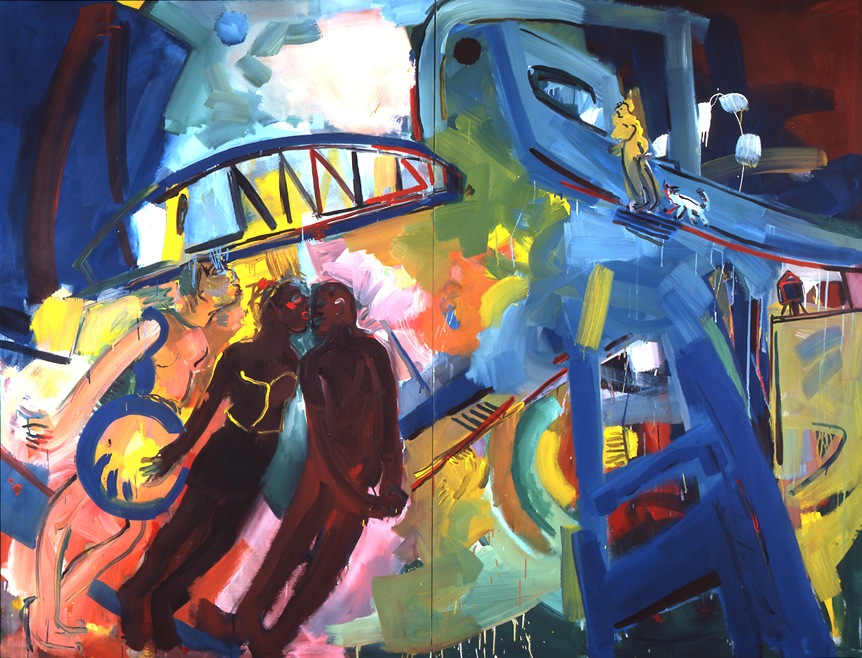 Barbara Quandt | Under the bridge, 170 x 224 cm, 1987