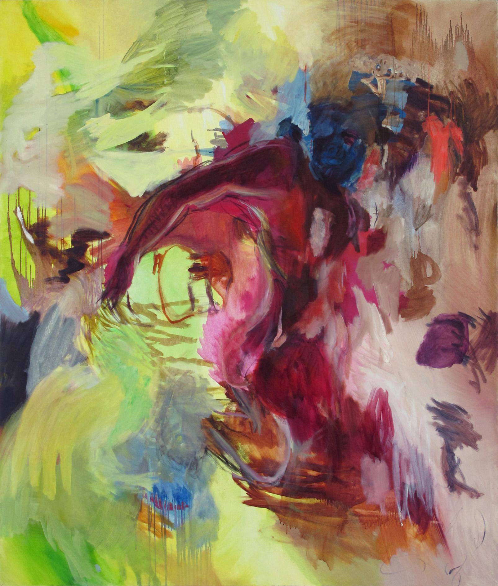Ein kurzes intensives Fest | Öl auf Leinwand, 200 x 170 cm, 2010
