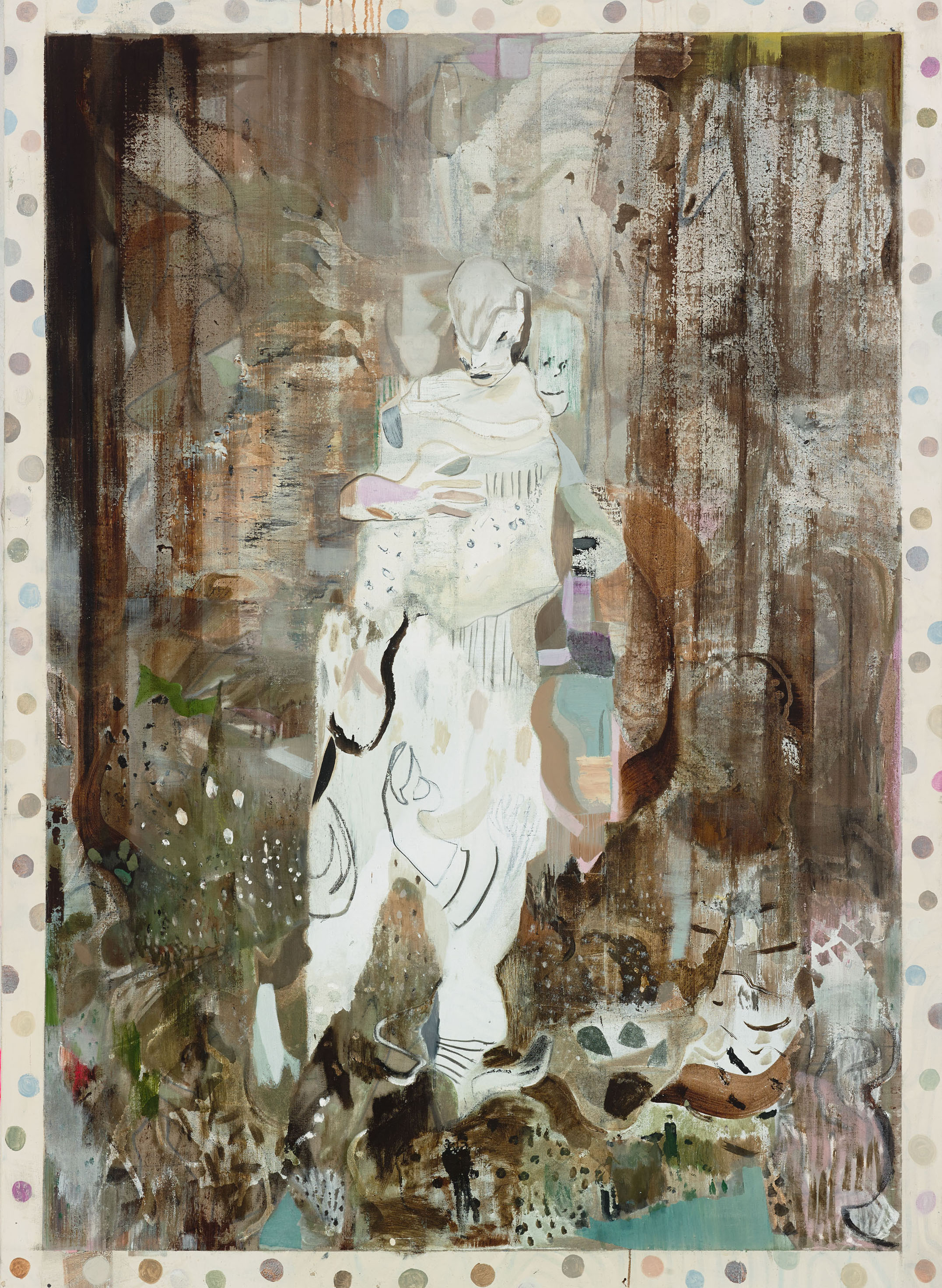 Kevin A. Rausch - Holy Forest - 180 x 130 cm, 2017, mixed media on canvas | Photo: Andrew Rinkhy