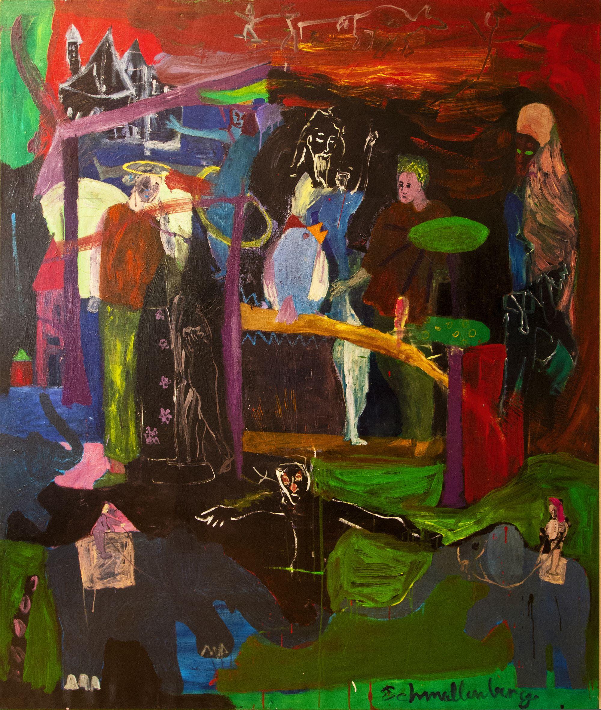 Nacht im Zoo – 2013 200 x 170 cm, Öl auf Leinwand