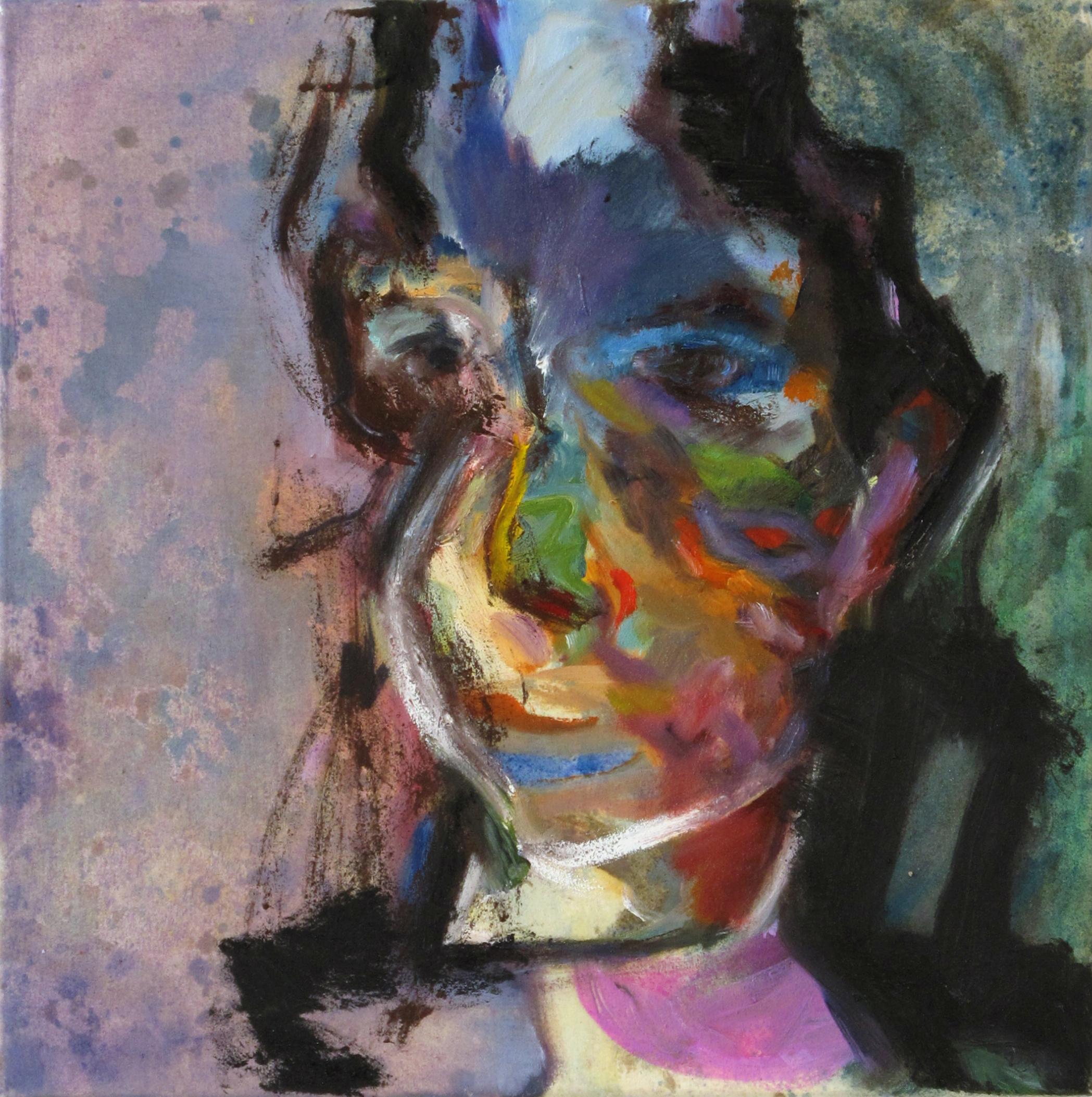 Selbstporträt | Acryl und Öl auf Leinwand, 40 x 40 cm, 2011