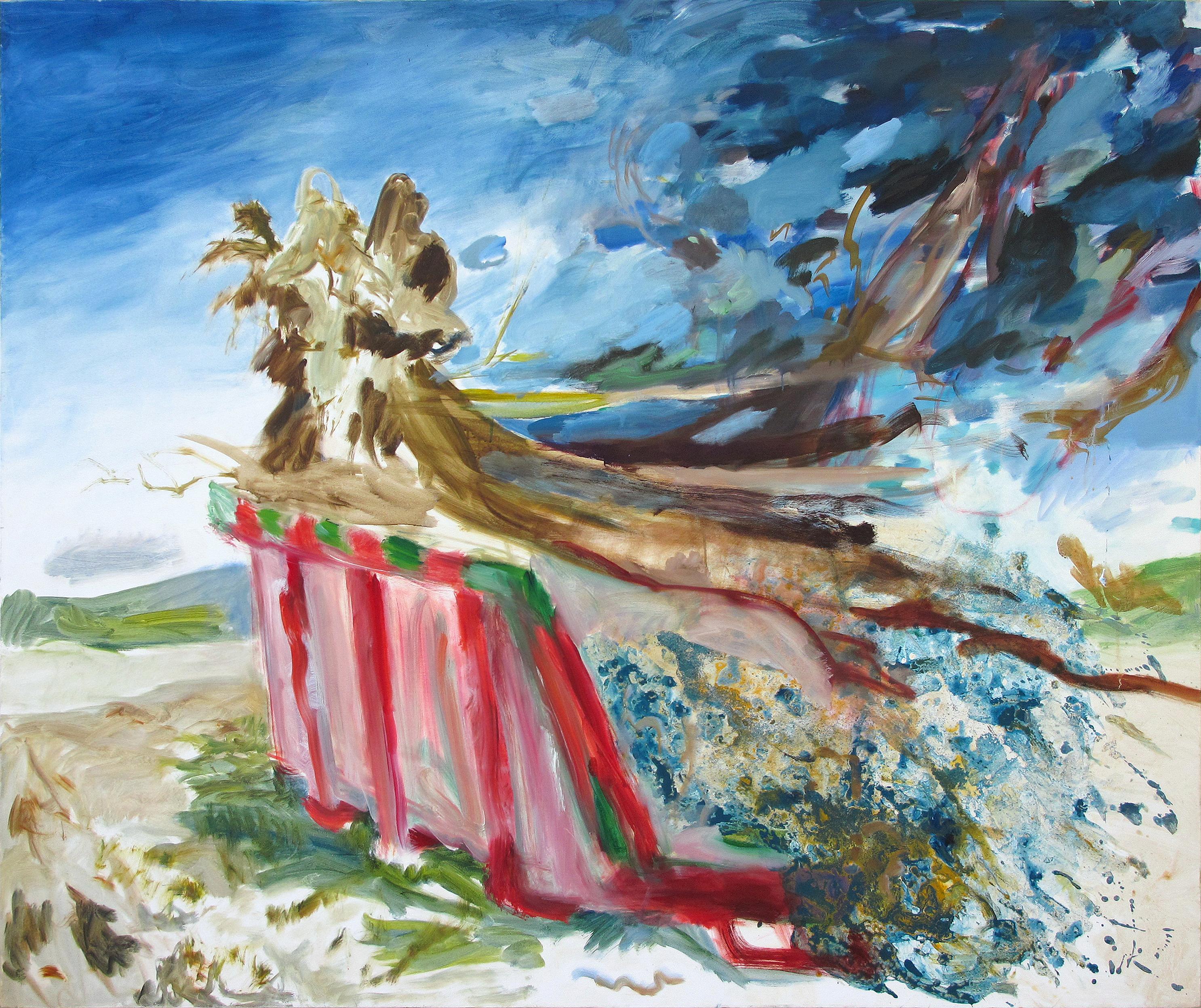Suzanna Treumann | Daphne, dumped, Öl und Acylic auf leinwand, 150 x 180 cm 2008-2011