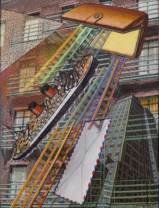 Christa Dichgans | New York 5, 1979, 40 x 30 cm, Öl / Leinwand