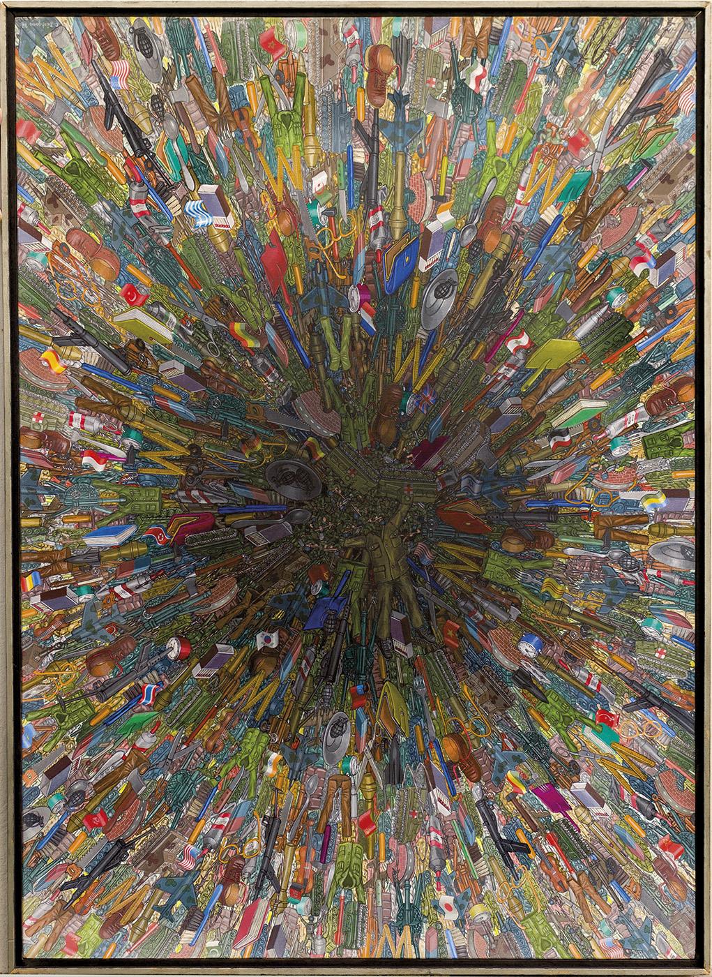 Prozess - 1977, 140 x 100 cm, Aquatec / Lw
