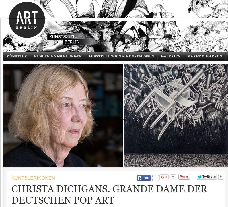 Christa Dichgans | ArtBerlin