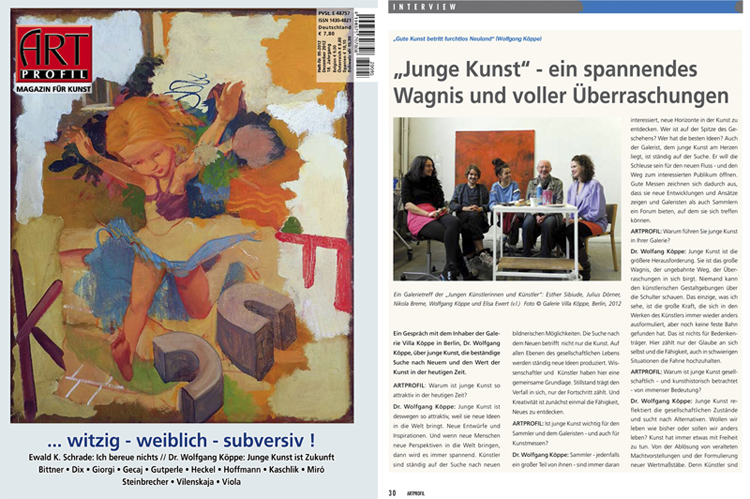 Interview ArtProfil - Cover