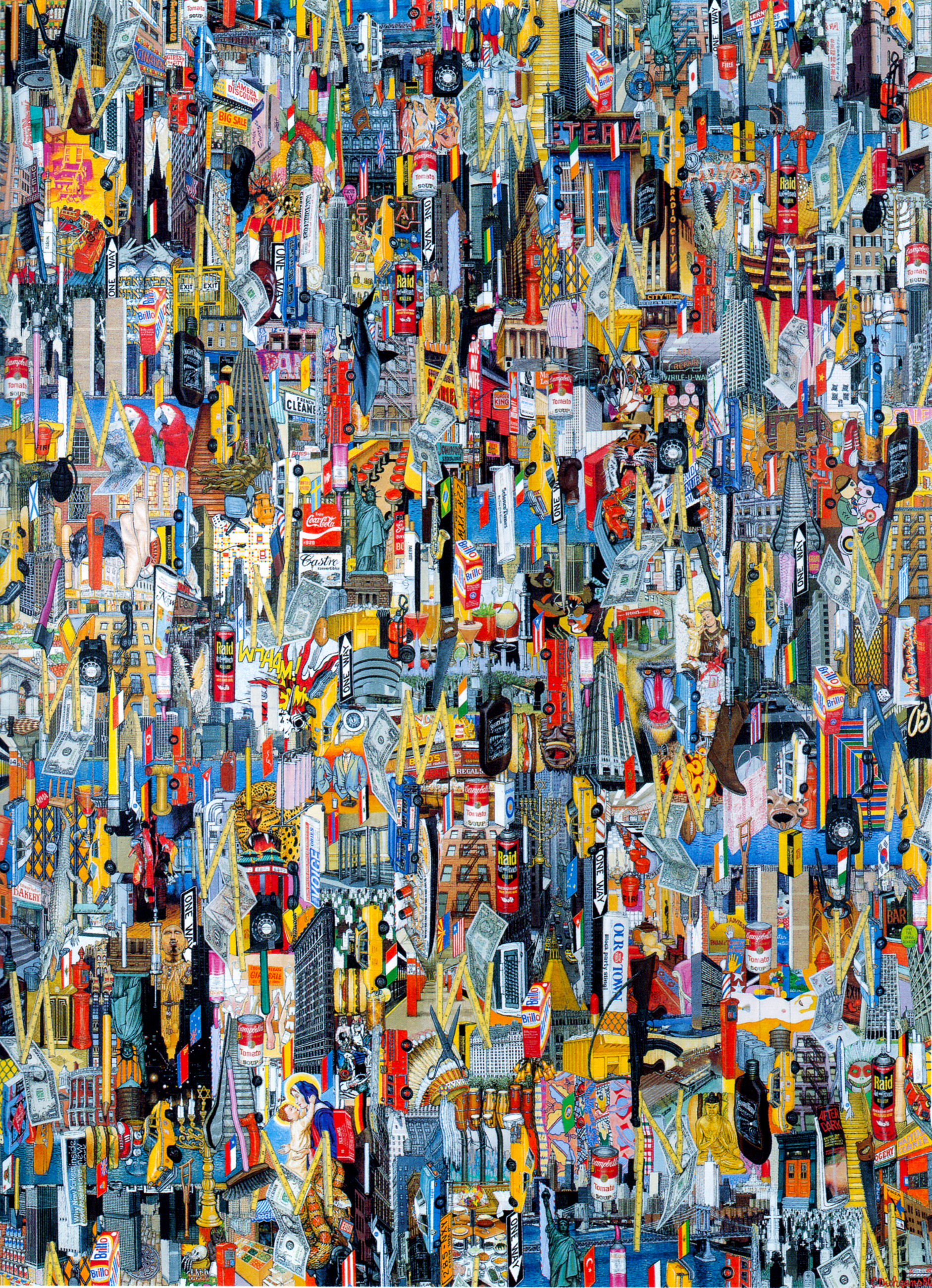 New York - 1980, Acryl / Lw, 220 x 160 cm
