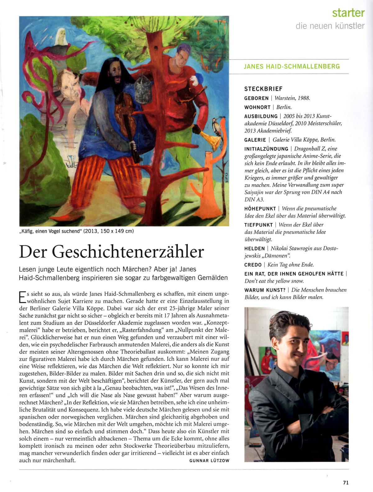 Janes Haid Schmallenberg in art - das Kunstmagazin