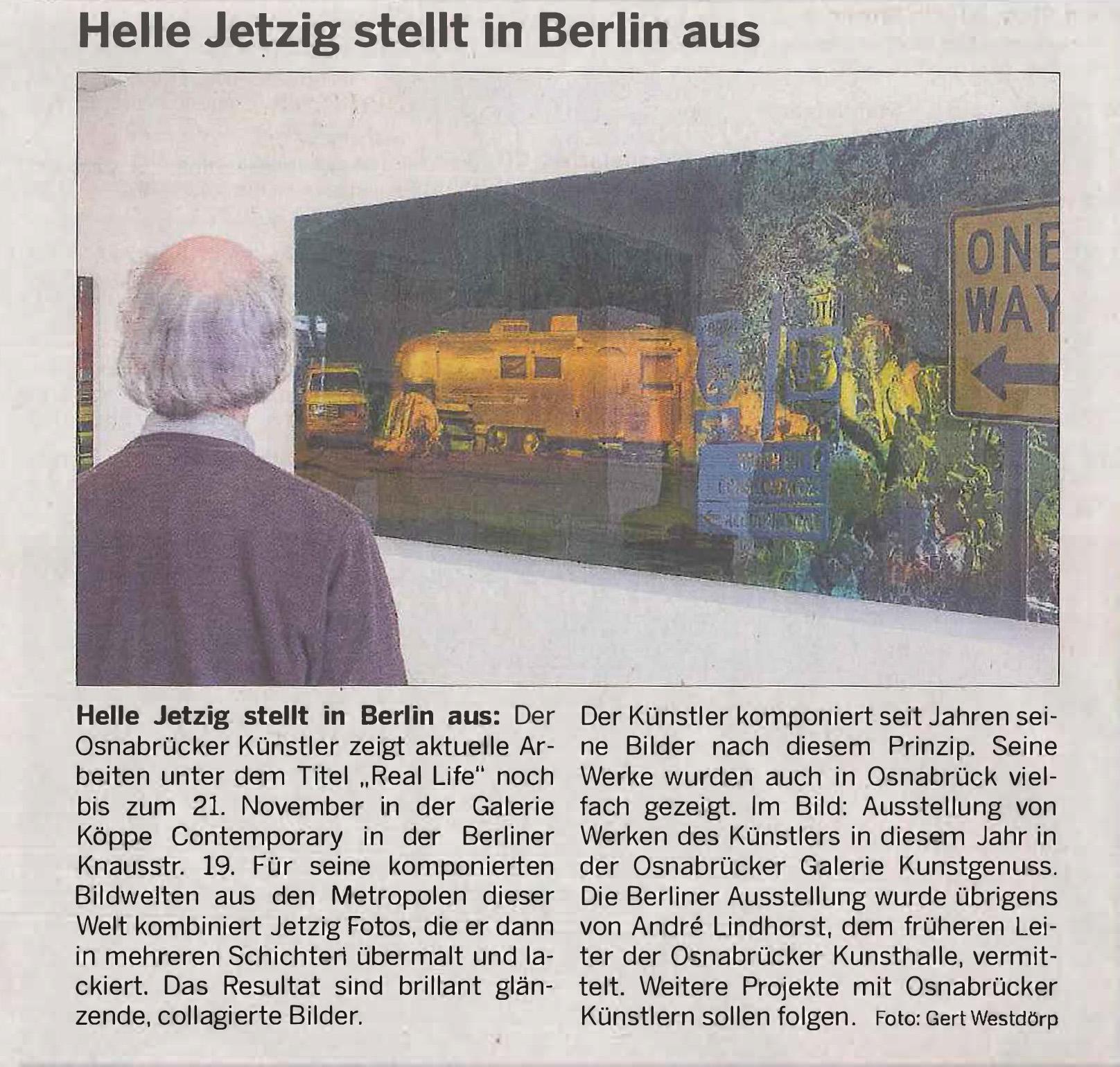 Neue Osnabrücker Zeitung - Helle Jetzig