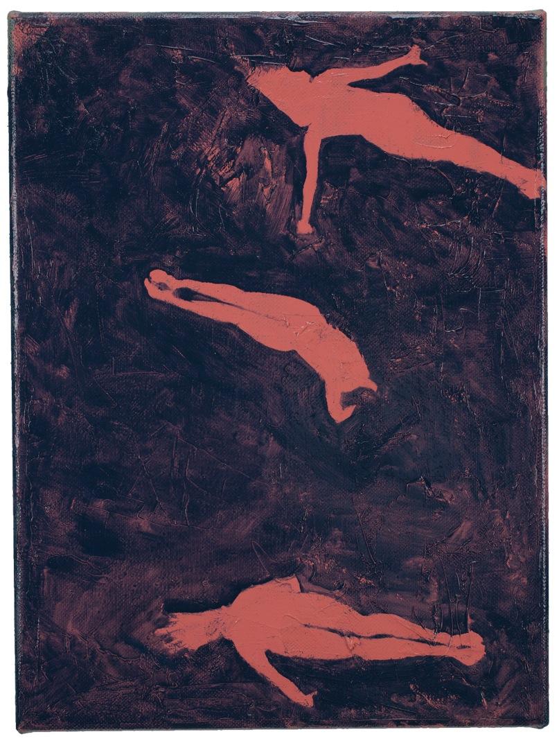 Turmspringerinnen | 40 x 30 cm, Öl auf Leinwand, 2015