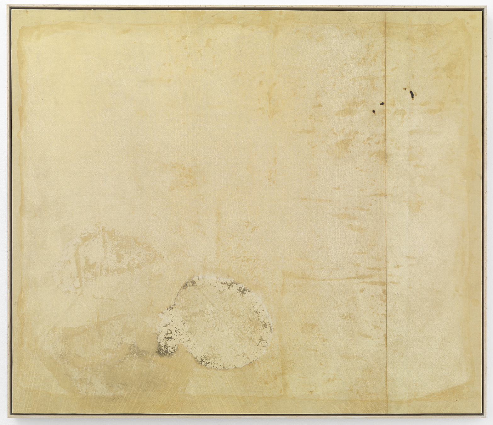 Jeewi Lee - Reinigungsbild Nr 11 – 2015, 123,5 x 155,5 cm, cleaned/bleached korean traditional paper floor with traces and stains
