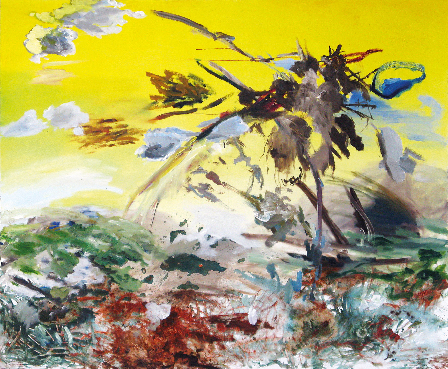 Suzanna Treumann - Urknall, Big Bang or the beginning of a painted world, acrylic und oil on canvas, 150 x 180 cm, 2008