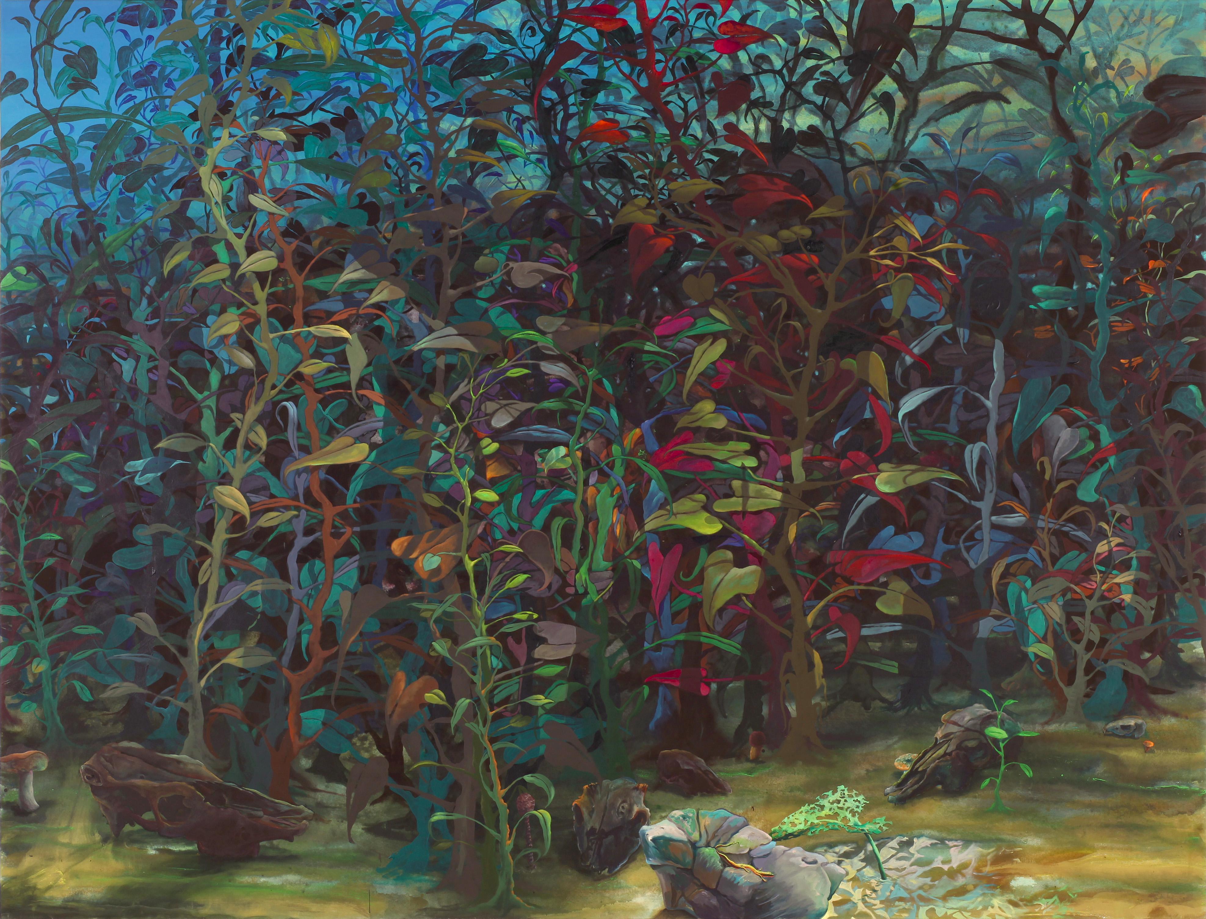 Arno Bojak - Die blaue Stunde, 220 x 290 cm, 2011, Acryl auf Nessel