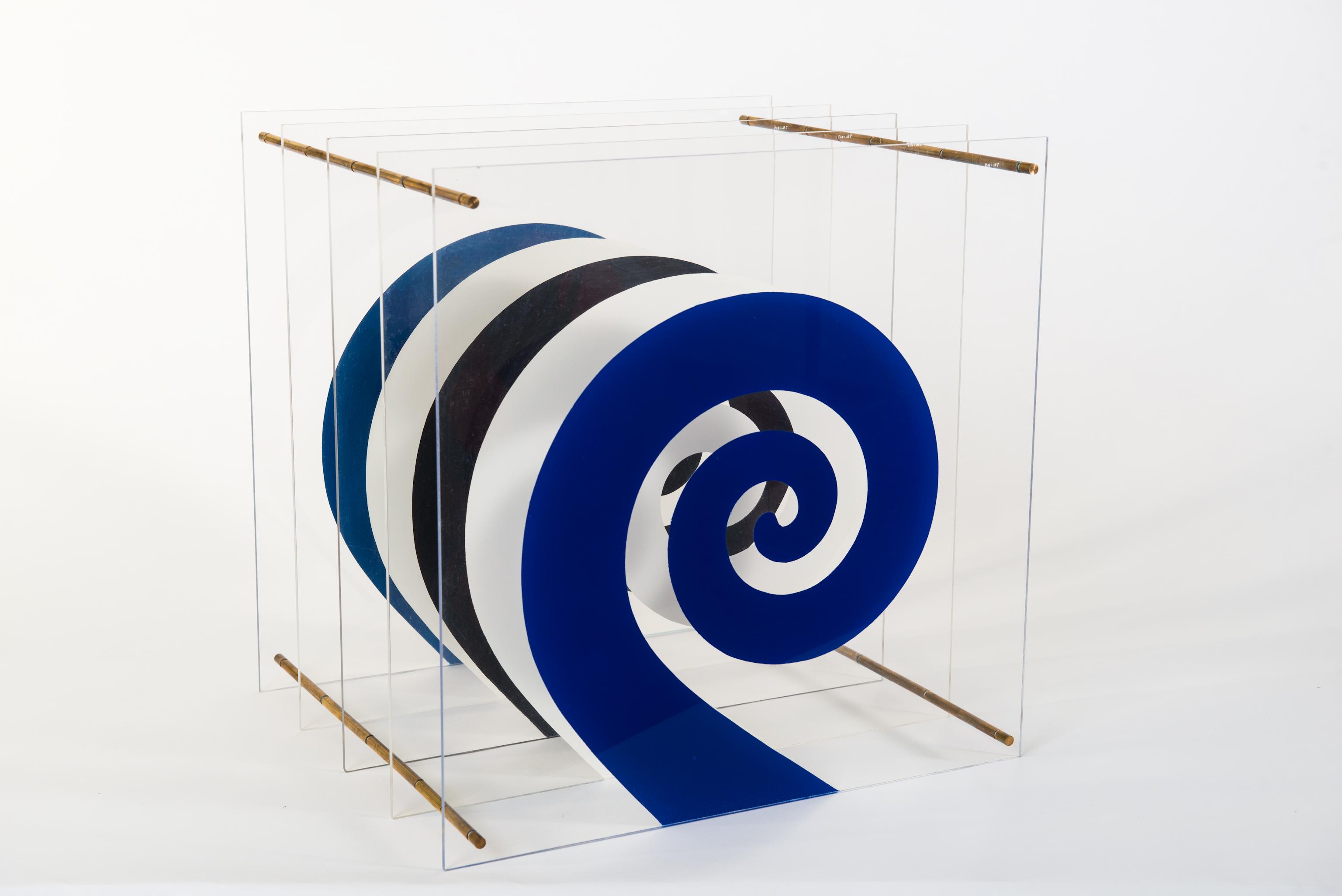 Raumobjekt | Sprühfarbe auf Acrylglas, 40 x 40 x 34 cm, 1969