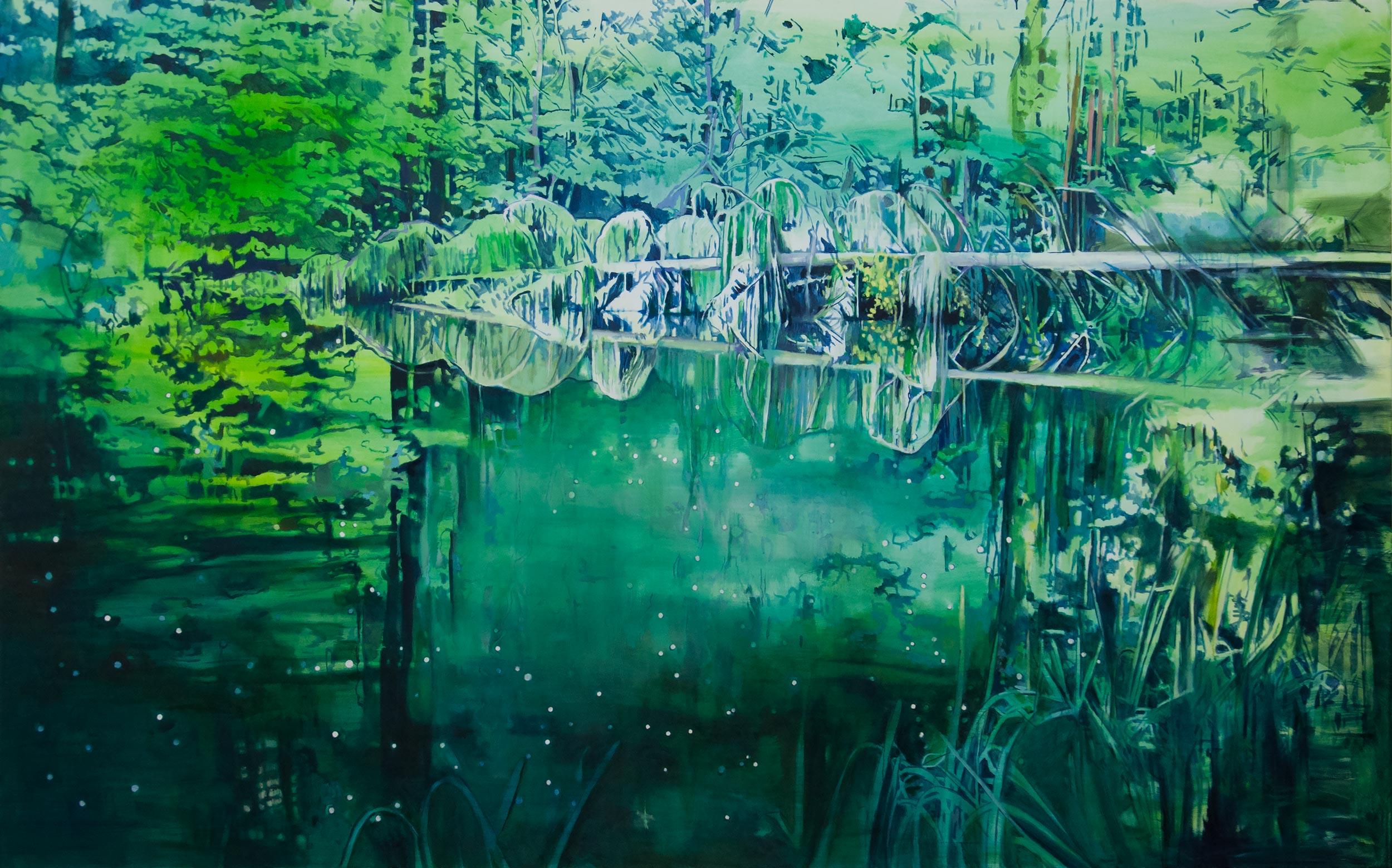 Gisela Krohn - Passion 1, 190 x 300 cm, 2015