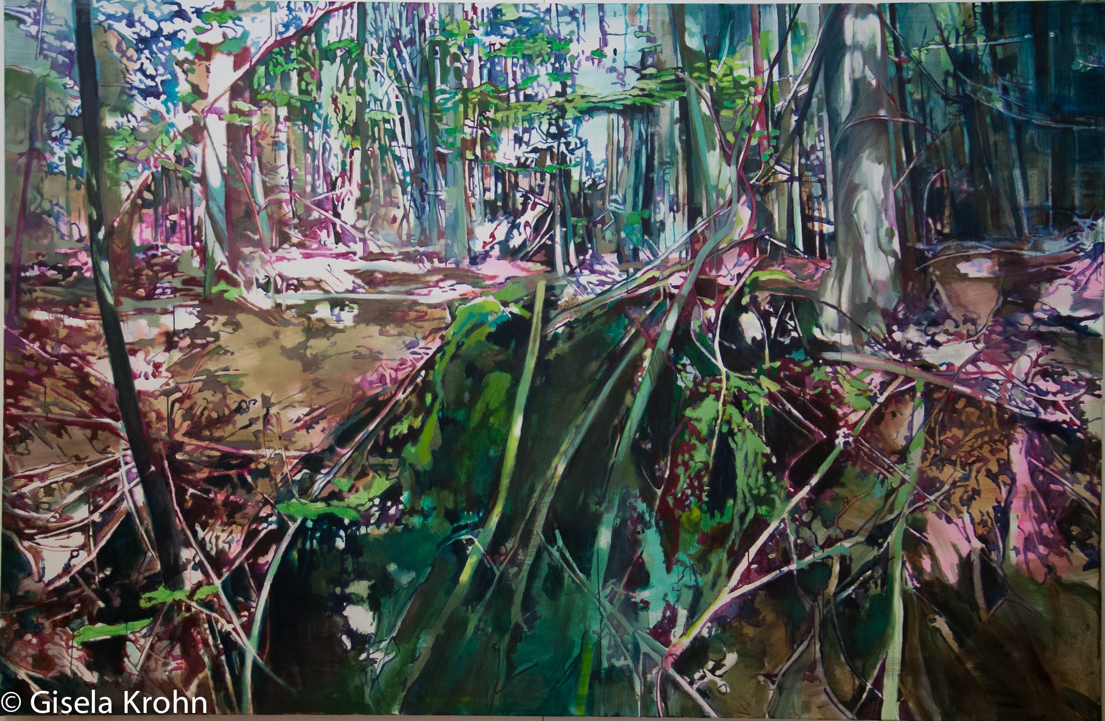 Oben und unten – 170 x 260 cm, 2015, Öl / Lw