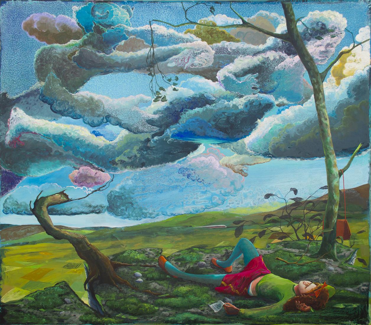 Arno Bojak | OT, 2016, 180 x 206 cm, Acryl auf Nessel