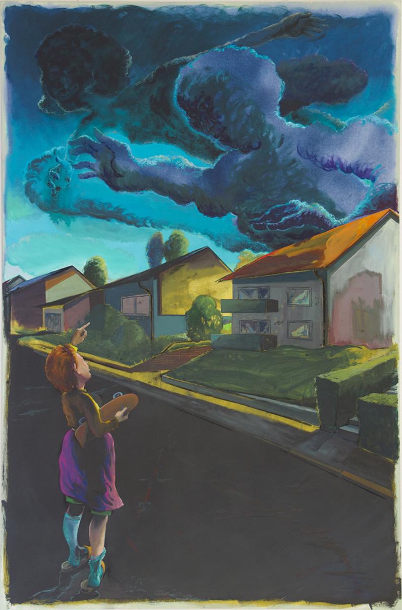 Arno Bojak | OT, 2016, 220 x 144 cm, Acryl auf Nessel