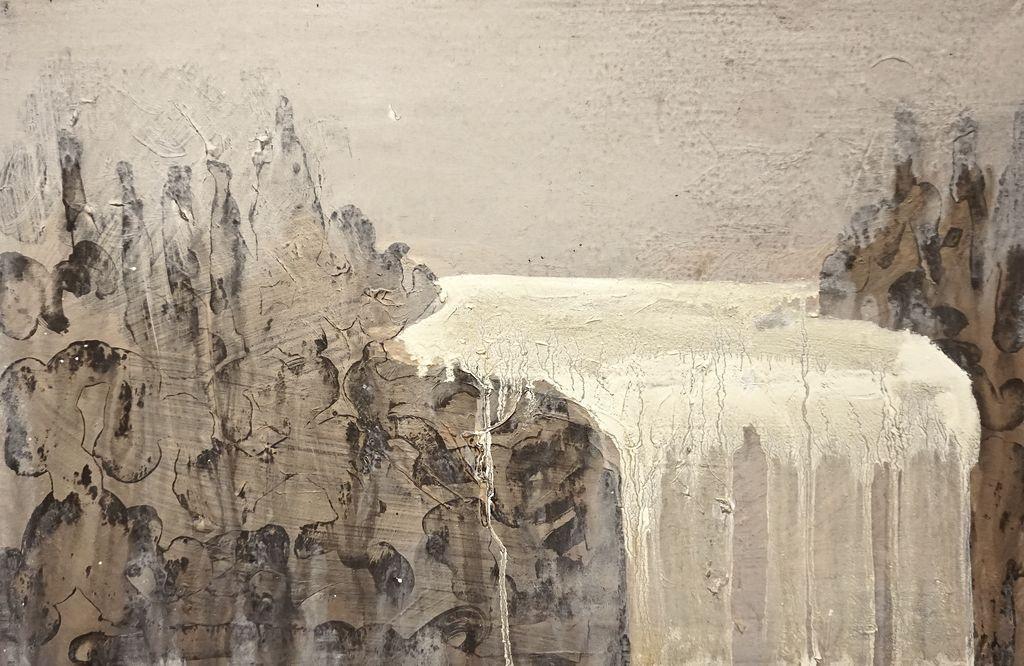 Outflow - 2013, 40 x 60 cm, Öl / Lw
