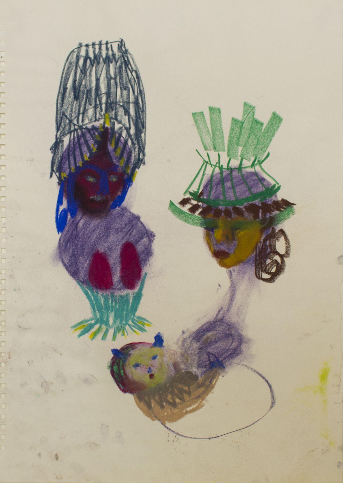 Susanne Ring | OT – 2015, 60 x 41 cm, Pastell auf Papier