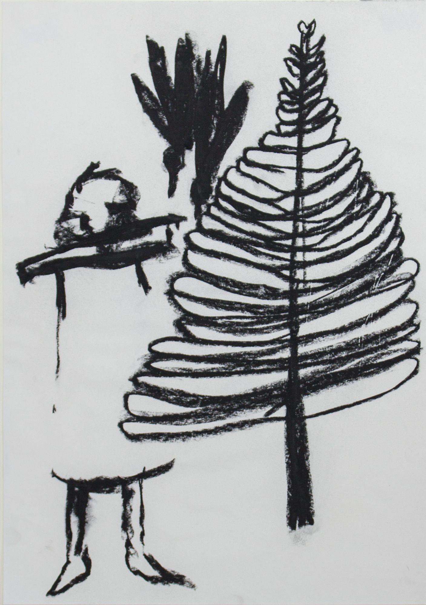 Susanne Ring | OT – 2016, 42 x 29,5 cm, Kohle auf Papier