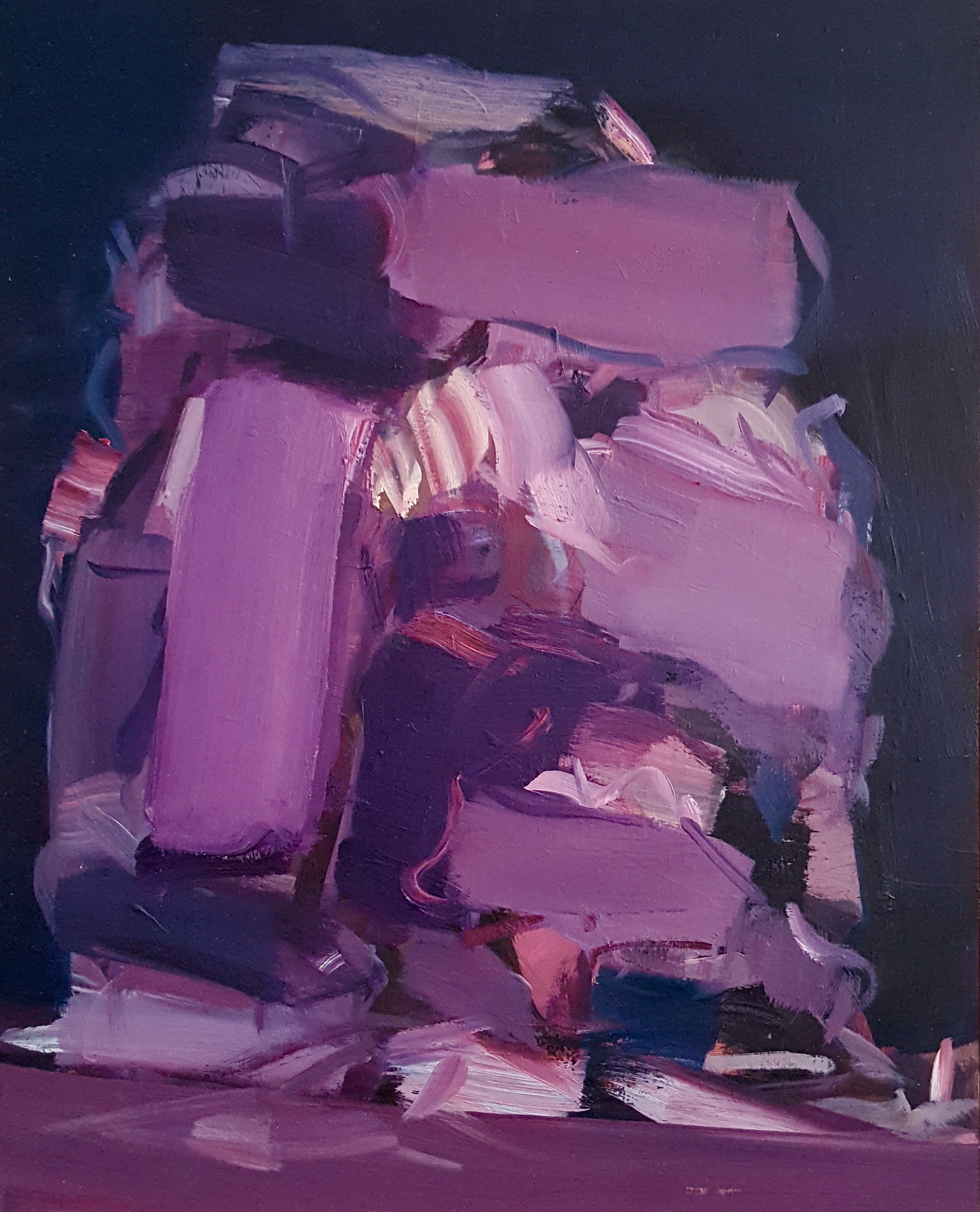 Said Baalbaki | Heap Violet, 2014, 40 x 32 cm, Öl / Holz