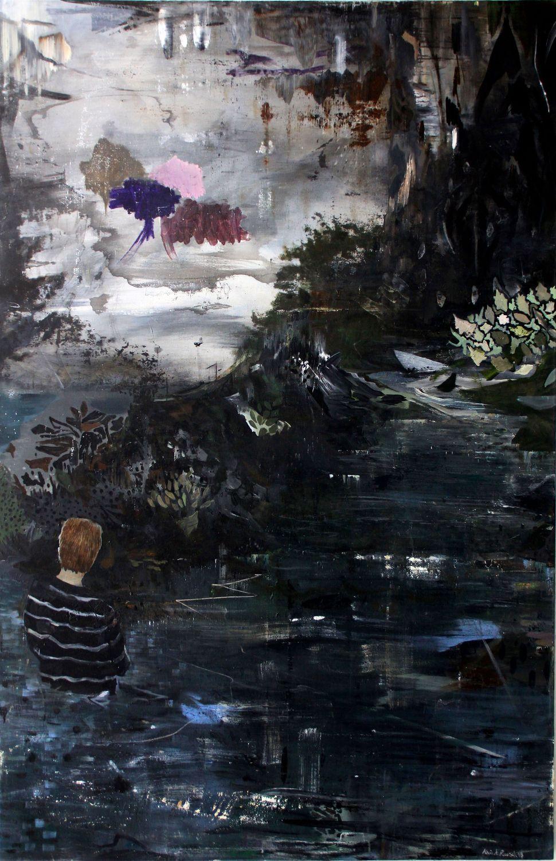 Kevin A. Rausch - No Mans Land, Mischtechnik Leinwand, 200 x 130 cm, 2013