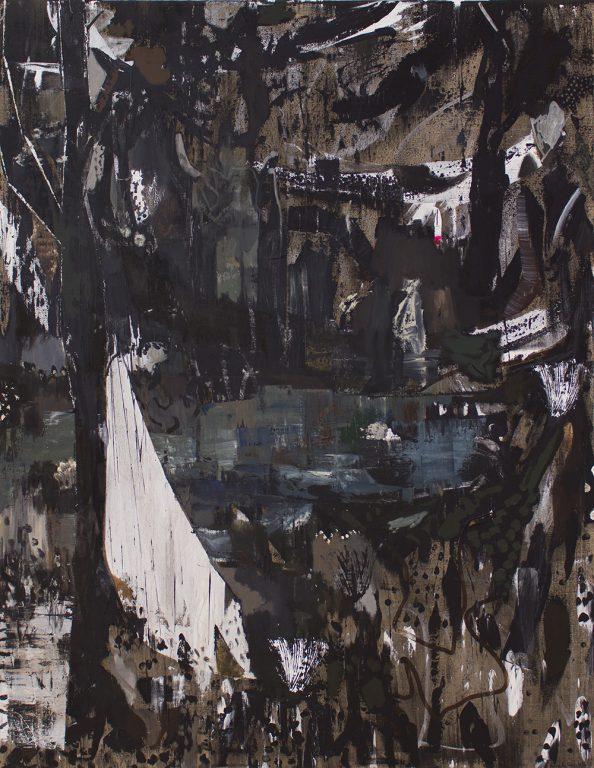 Kevin A. Rausch   Dancer In The Dark, 2016, 180 x 140 cm, MT auf Lw