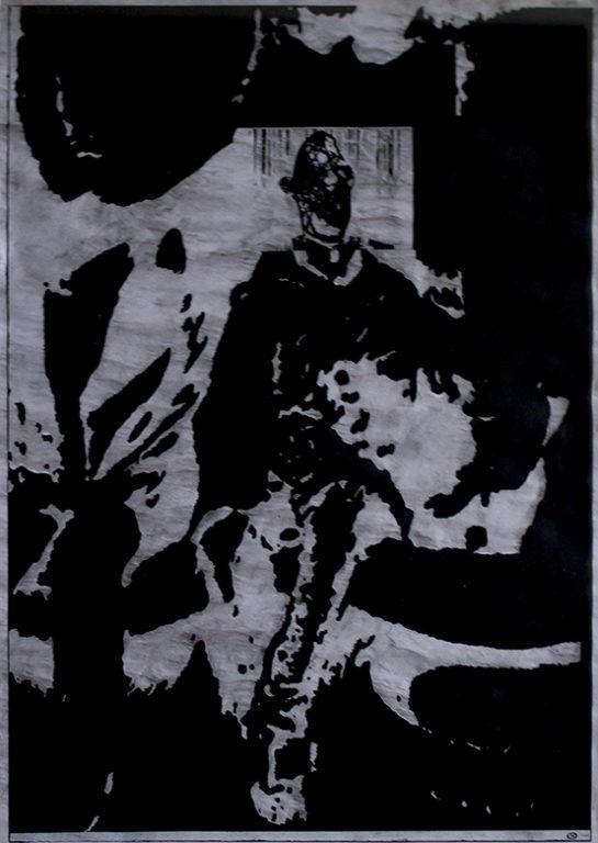 Christian Rickert | Graphit-Zeichnung, 2000-2002, ca. 40 x 30 cm, Graphit-Prägezeichnung