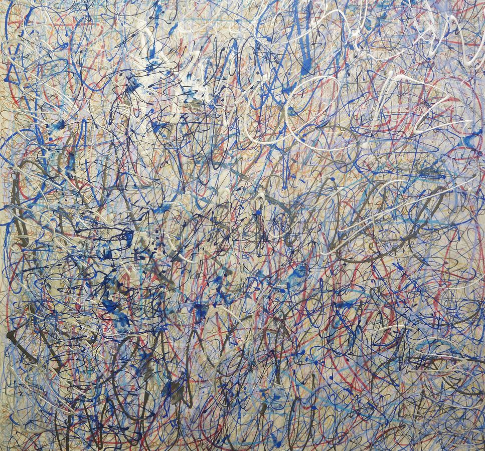 Karlyn De Jongh, 19-22 April 2015. Mixed media on canvas on wood, 200 x 180 cm.