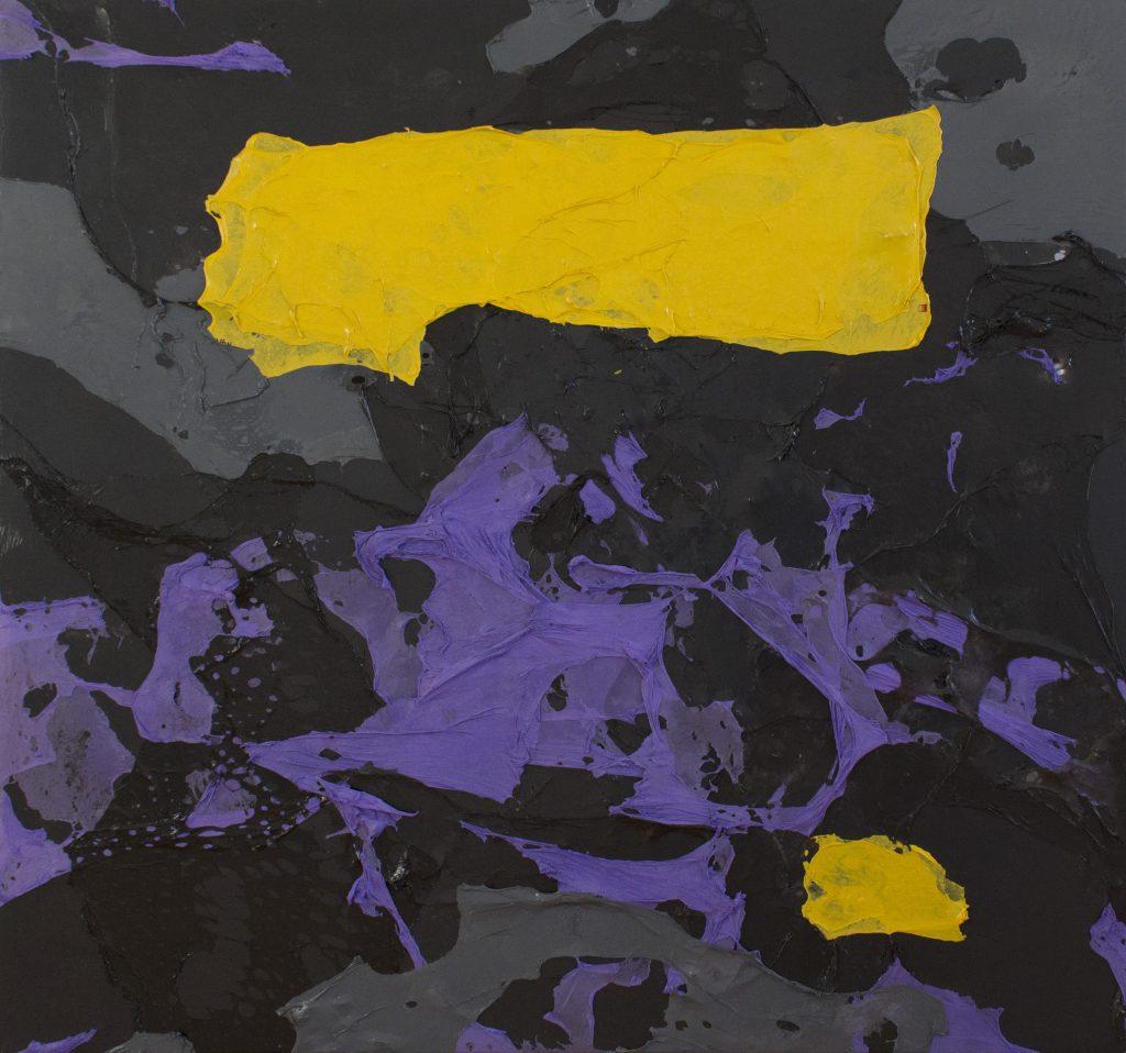 Willi Tomes | OT – 86 x 90 cm, 2014, Polyethylen auf Holzrahmen