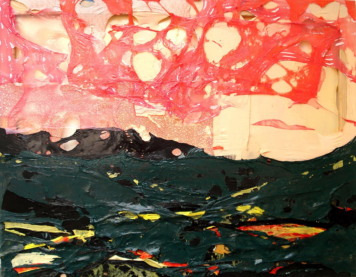 Willi Tomes - Love is in the air, 2011, Polyethylen auf Keilrahmen, 70 x 90 x 3 cm