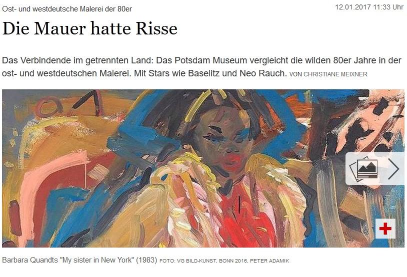 Tagesspiegel 12.01.2017 / Barbara Quandt