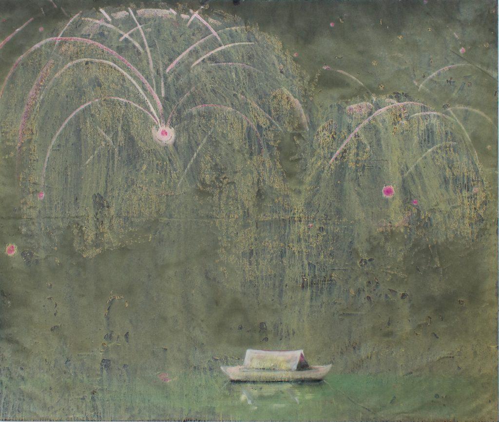 Becker Schmitz | Goldregen –160 x 190 cm, 2017 Öl / Leinwand