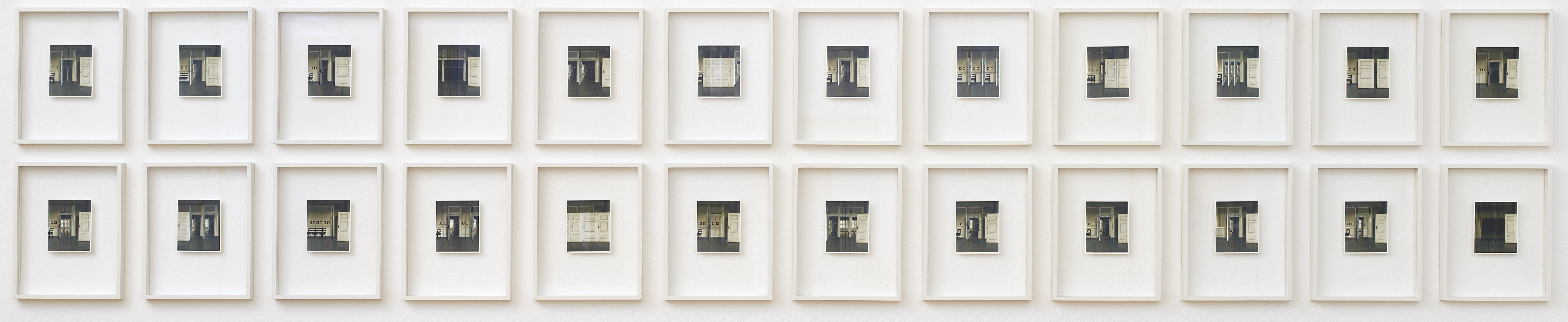 Ulrich Vogl – Hammershoi-Studien, 24 Postkartencollagen