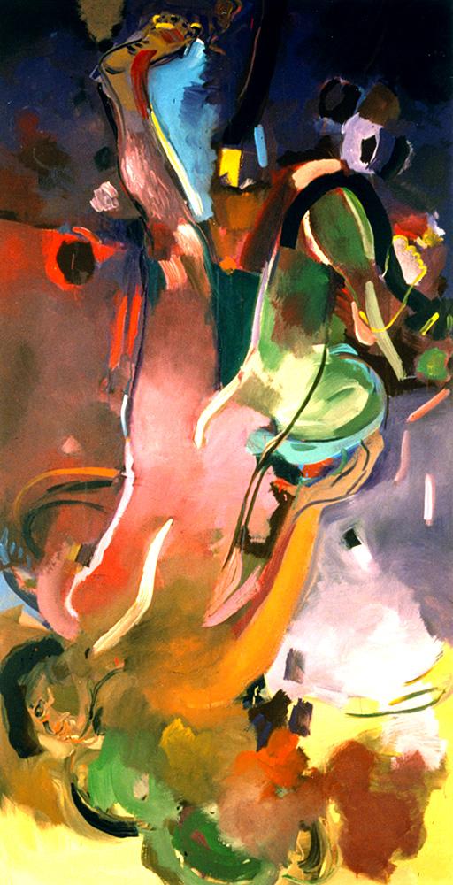 Barbara Quandt | Freier Flug, 1991, Acryl / Leinwand, 190 x 120 cm