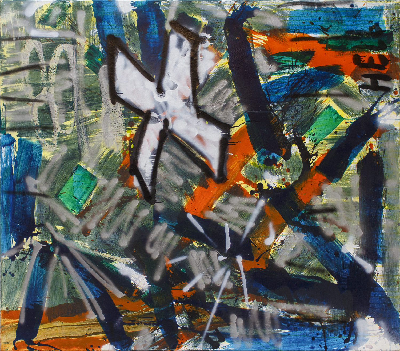 ter Hell – Obszön, 160 x 140 cm, 2002, Mischtechnik auf Leinwand