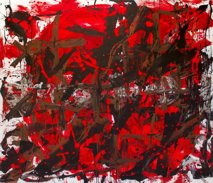 ter Hell – OT, 190 x 220 cm, 2008, Mischtechnik auf Leinwand