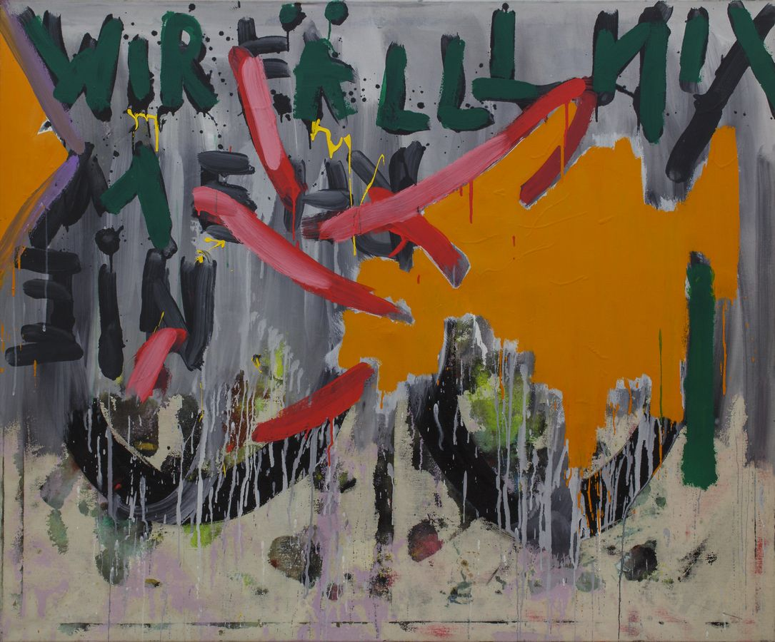 Ter Hell   Knusperhäuschen – 126 x 152 cm, 1978, Mischtechnik auf Leinwand