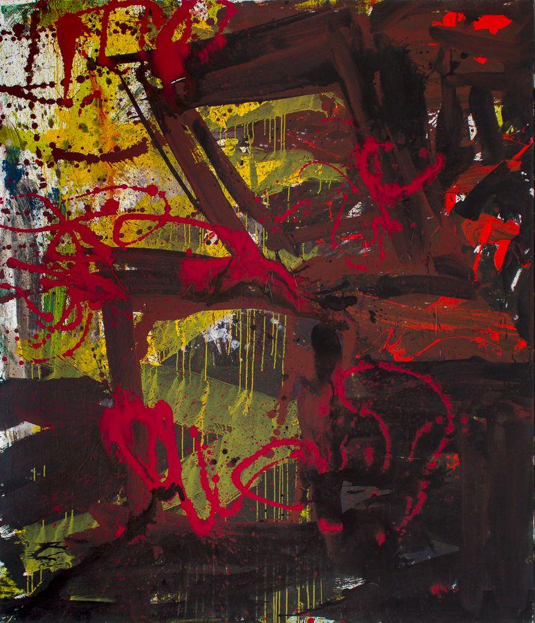 Ter Hell | Bild an Joe Cockers Todestag, 210 x 180 cm, 2014, Mischtechnik auf Leinwand
