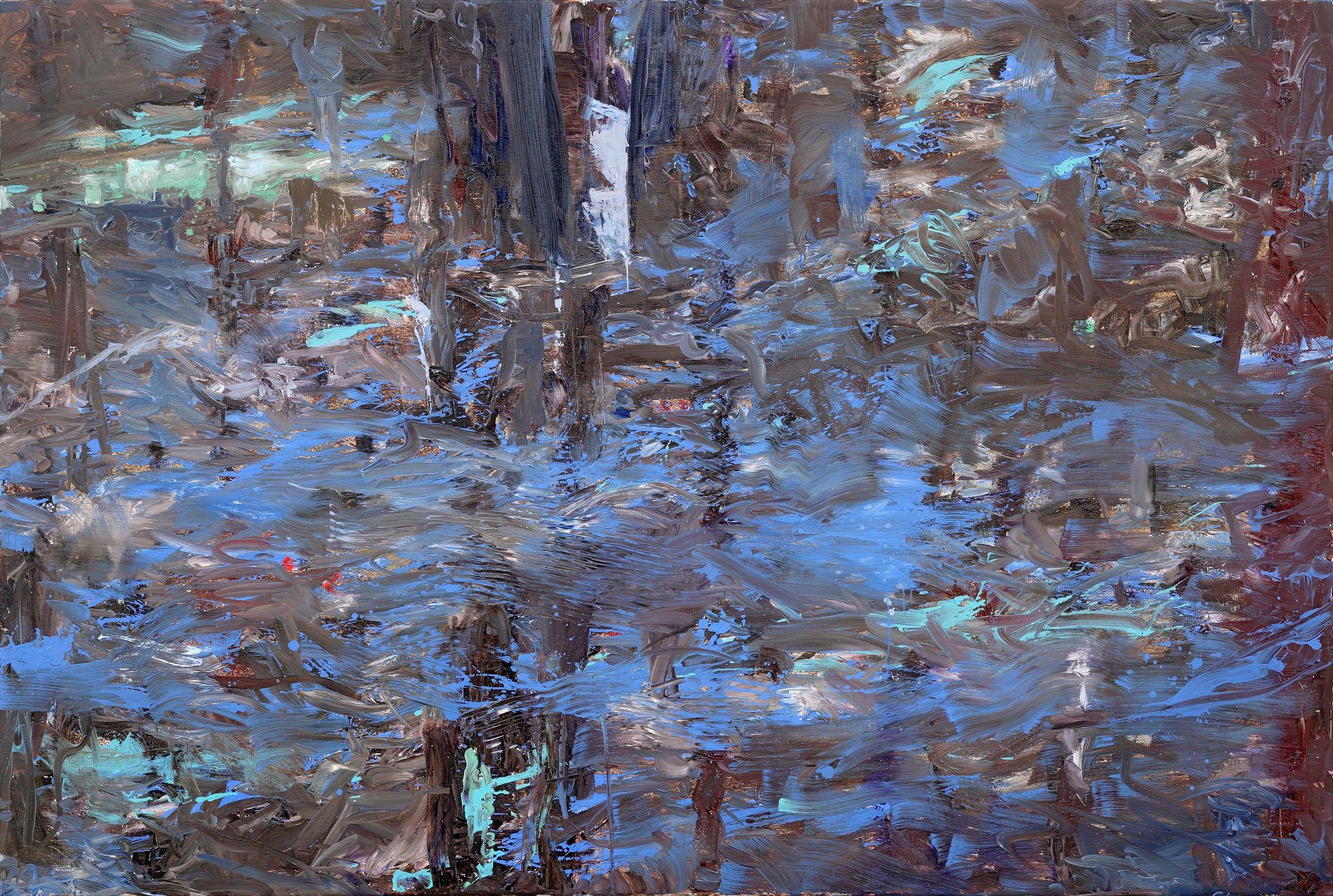 Ulrich Baehr | Wald 2, 2007, 120 x 180 cm, Öl / Leinwand