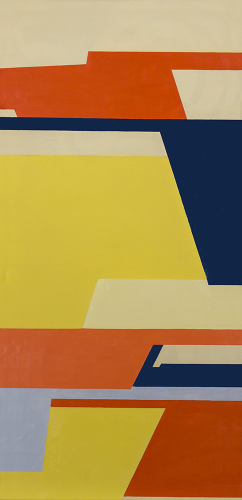 Christian Roeckenschuss   K518, 80 x 40 cm, 1955, Holz, farbig gefasst