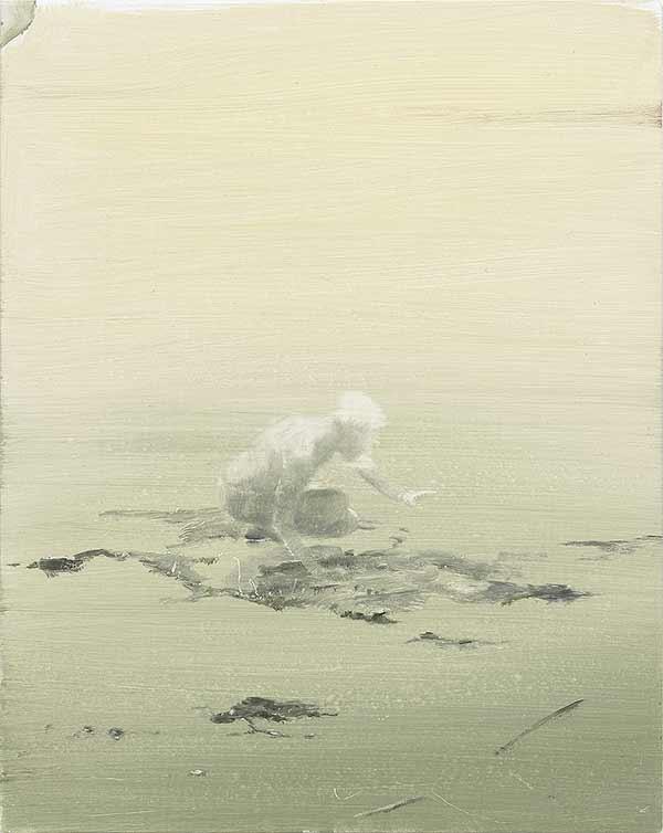 Thomas Ritz – OT, 2017, Öl auf Offset-Alu, 32,5x25,5 cm, KatNr 2017-822