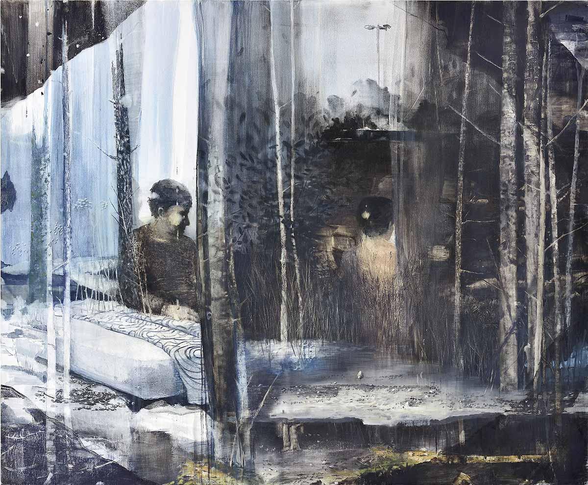 Thomas Ritz - OT, 2013, Pigment + Acrylharz auf Leinwand, 245 x 200 cm, KatNr 2013-472