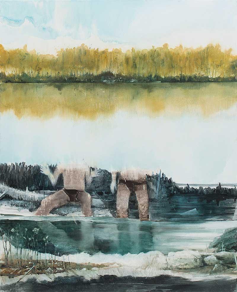 Thomas Ritz, OT, 2015, Pigment + Acrylharz auf Leinwand, 184 x 150 cm, KatNr 2015-795
